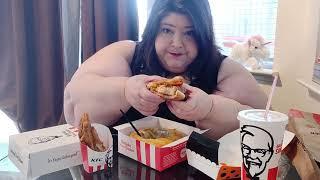 KFC Cheetos Sandwich, Cinnabon Dessert Biscuits, MNT Dew Sweet Lightening, and Potato Wedge Mukbang