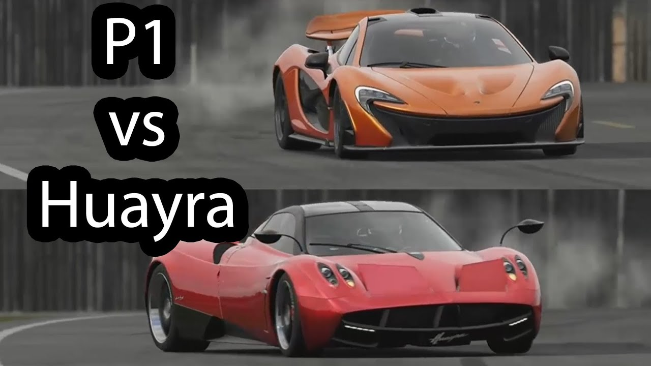 McLaren P1 vs Pagani Huayra Top Gear - YouTube