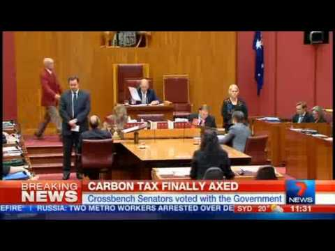Carbon Tax Repeal an Abbott win for Aussies