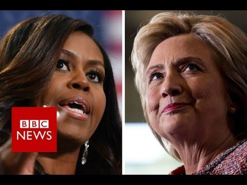 Hillary Clinton's not-so-secret weapon: Michelle Obama - BBC News