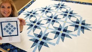 """SUPER EASY CURVES!!! - Free """"Cathedral Stars"""" Quilt Pattern!"""