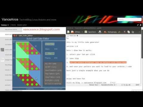 Cube Code Generator 3x3x3 Led Cube Editor / Code