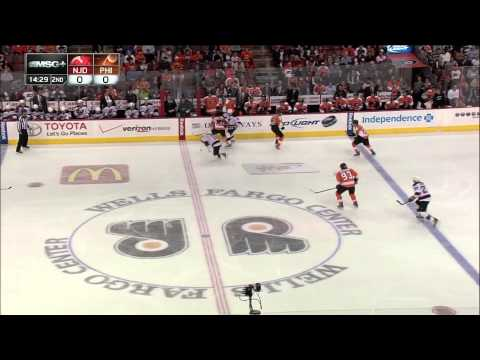 4.19.13 - New Jersey Devils At Philadelphia Flyers - 1 Carter Goal