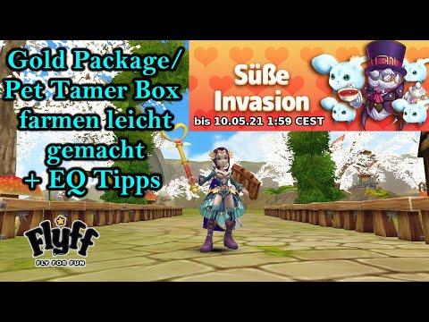 Flyff - Süße Invasion: Gold Package/Pet Tamer Box farmen leicht gemacht + EQ Tipps