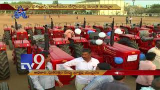 TRS Congress tractor war in Khammam!