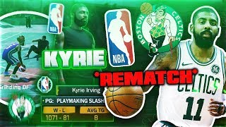 FACING NBA STAR KYRIE IRVING AT PARK 🔥 THE REMATCH (ANKLES BROKEN) - NBA 2K18 MYPARK GAMEPLAY