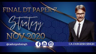 DT preparation strategy for Nov. 20 attempt CA DURGESH SINGH