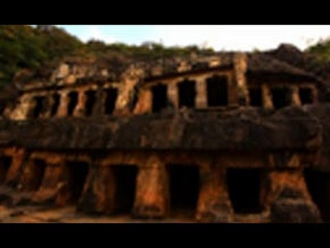 Undavalli Caves in Vijayawada - carved out from a sandstone hill