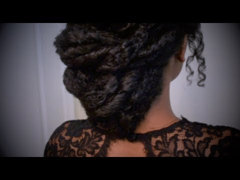 Easy Textured Elegant Formal Updo Prom Wedding Natural Hair