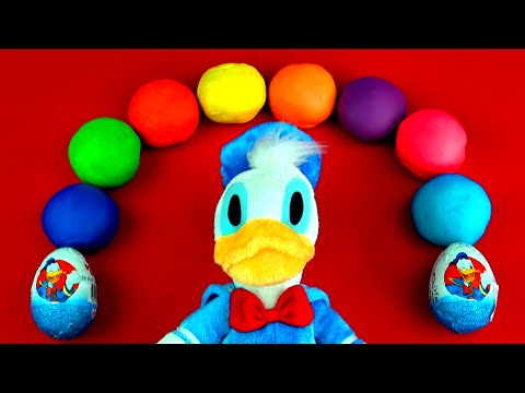 Donald Duck Play-Doh Surprise Eggs Mickey Mouse Sesame Street Disney Frozen Cars 2 Toys FluffyJet