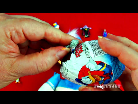 Donald Duck Play-Doh Surprise Eggs Mickey Mouse Sesame Street Disney Frozen Cars 2 Toys FluffyJet