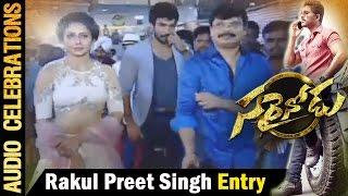 rakul-preet-entrance-sarrainodu-audio-celebrations-live-allu-arjun-rakul-preet