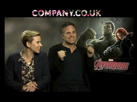 AVENGERS: AGE OF ULTRON Interview: Scarlett Johansson & Mark Ruffalo
