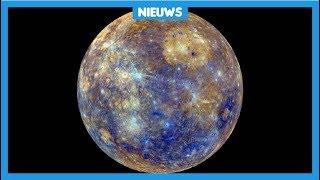 Ruimteschip onderweg naar planeet Mercurius