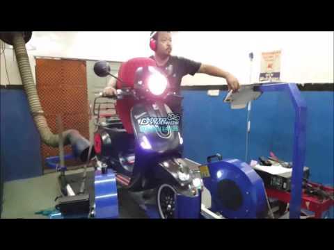 Vespa Sprint 150 Malossi ECU Dyno Tuning - Motodynamics Technology Malaysia