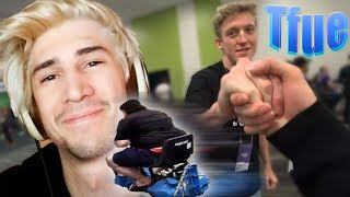 Bumping into Tfue & Cloakzy at Twitchcon / XQC & Nymn Take Over Greeks Stream