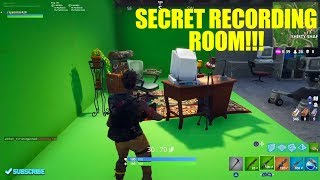 Secret Recording Room Location in Fortnite|THEDAMNATION.