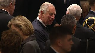 Prince Charles and Other World Leaders Attend President George H.W. Bush's Funeral