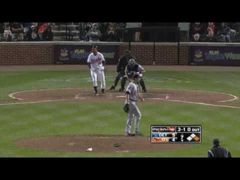 Baltimore Orioles vs. Detroit Tigers - Orioles score five runs in seventh inning