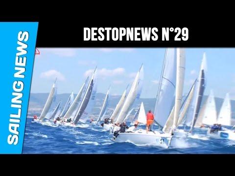 Bernard Stamm et Jean Le Cam au départ de la Barcelona World Race - Destopnews N°29