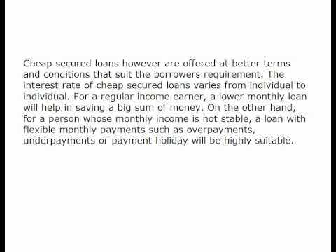The Best Comes With The Lowest with cheap secured loans 650346