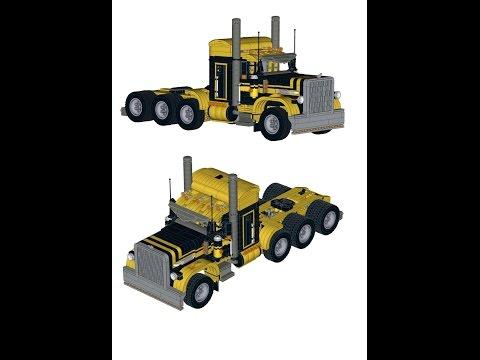 lego truck 5571 5580 camion best custom moc technic. Black Bedroom Furniture Sets. Home Design Ideas