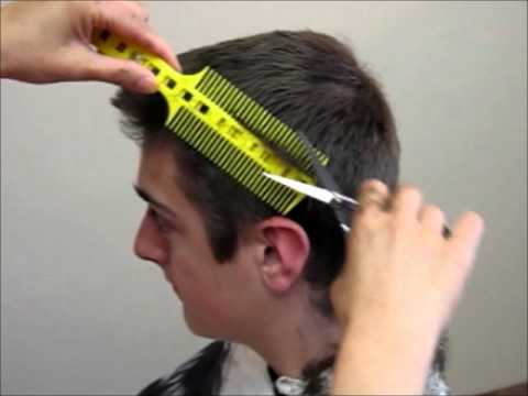 How to Cut Men's boy's Hair Short layer - Combpal Scissor Clipper Over Comb haircutting Tool Video 1