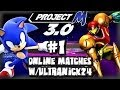 Super Smash Bros Brawl - Project M - Wifi Matches Vs Ultranick24