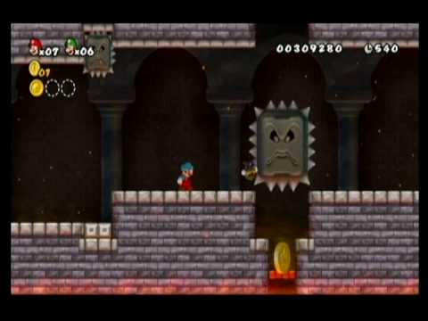 NEW SUPER MARIO BROS WII-ALM1GHTY & WIFEY-WALKTHROUGH-WORLD 1-CASTLE-PT1