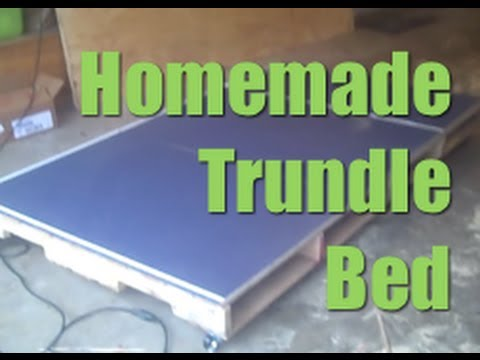 Homemade Trundle Bed Made From Pallets  DIY - YouTube