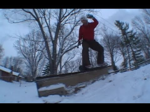 Skateboarders on the snow!