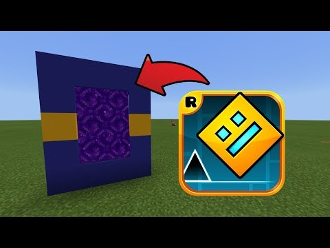How To Make a Portal to the Geometry Dash Dimension in MCPE (Minecraft PE)