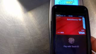 Using Apples Apple Pay at Subway on the Iphone 6 (tips tricks and useful info)