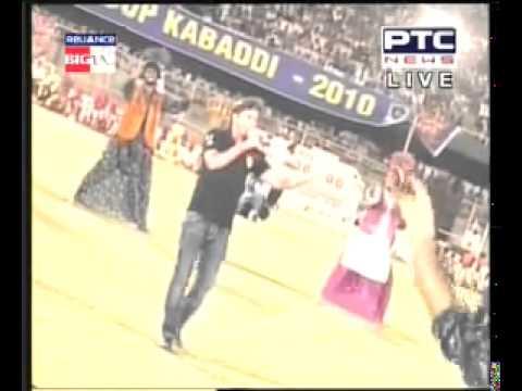 Sukhwinder Singh Performing Kabaddi Song At World Kabaddi Cup 2010 video