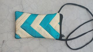 Diy iphone or mobile pouch cutting and stitching ll Side Bag
