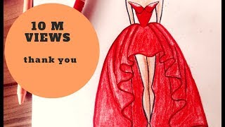 Download How to draw a wonderful dress 3Gp Mp4
