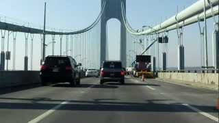 Verrazano Narrows Bridge (Upper Level) westbound [ALTERNATE TAKE]