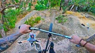 BMX RIDING AT THE DIRT JUMP PARADISE!