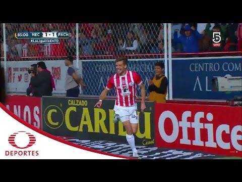 Gol de Riaño | Necaxa 2 - 1 Pachuca | Cuartos de Final | Televisa Deportes