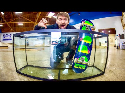 EXTREMELY DANGEROUS GLASS SKATE LEDGE?!