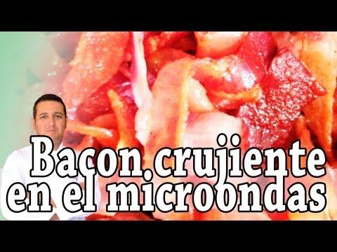 Cómo hacer bacon crujiente en el microondas - Recetas de cocina