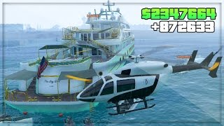 GTA 5 DLC Online! Party Yacht Gameplay $50 Million DLC Spending Spree ! (GTA 5 Online DLC Gameplay)