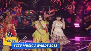 Via Vallen dan Tasya Rosmala - Juragan Empang   SCTV Music Awards 2018
