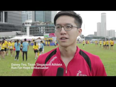 Team Singapore athletes run for cancer research