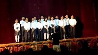 Choir of students In lajpat Bhavan