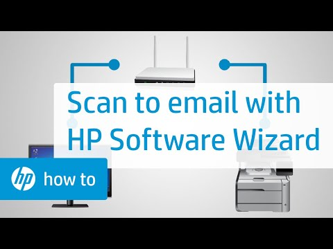 Setting Up Scan to E-mail Using HP Software Wizard in Windows