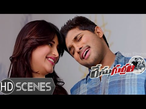 Prakash Raj Rejecting Allu Arjun - Race Gurram Movie Scenes - Shruti Hassan