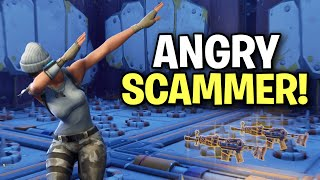 the angriest liar ever almost scams me! (Scammer Get Scammed) Fortnite Save The World