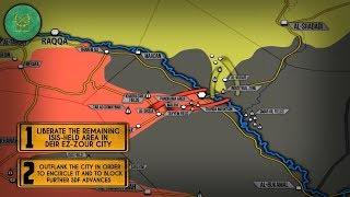 11 сентября 2017. Военная обстановка в Сирии. Коалиция США начала наступление на востоке Сирии.