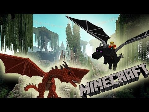 MineCraft 1.6 SnapShot 13w21a SkyLands Biome, Dragons, Terrain!